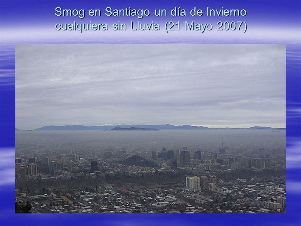 Smog en Santiago un día de Invierno cualquiera sin Lluvia (21 Mayo 2007)