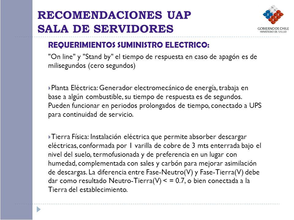 REQUERIMIENTOS SUMINISTRO ELECTRICO: