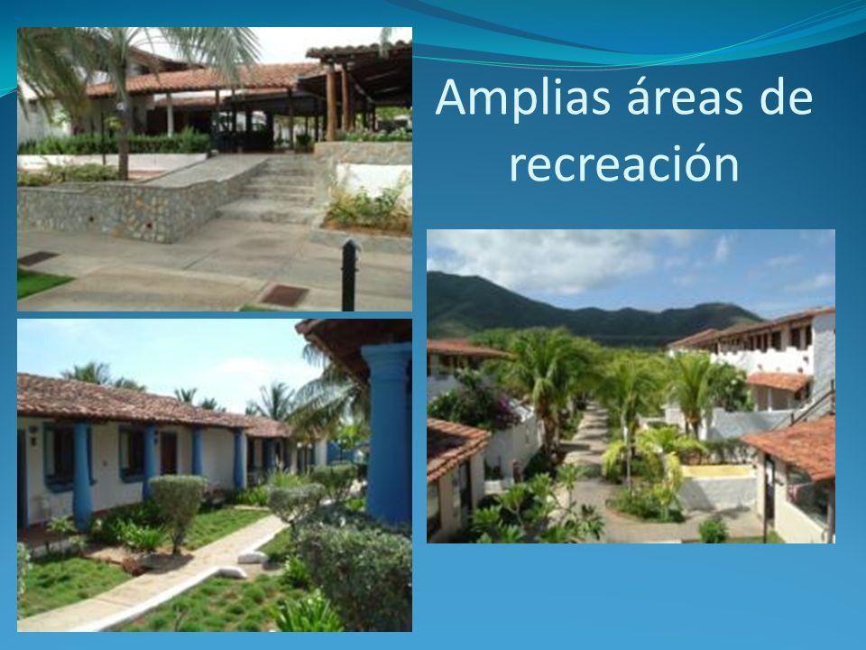 Amplias áreas de recreación