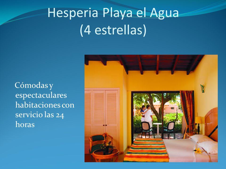Cómodas y espectaculares habitaciones con servicio las 24 horas Hesperia Playa el Agua (4 estrellas)