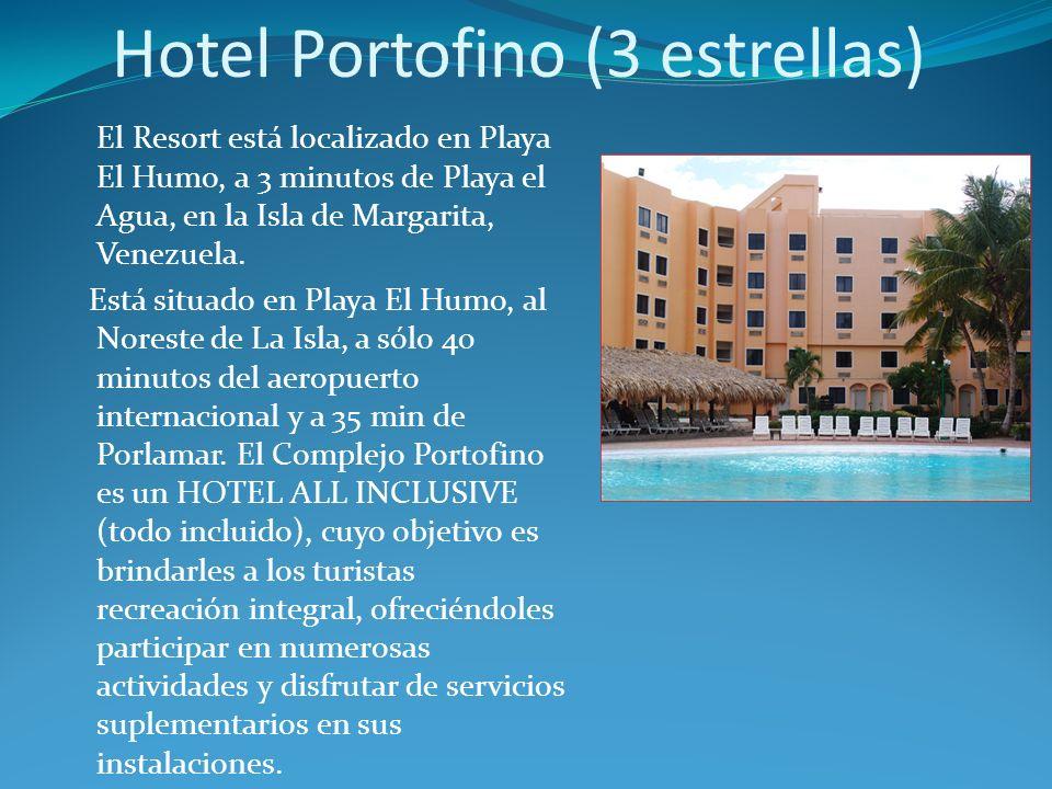 Hotel Portofino (3 estrellas) El Resort está localizado en Playa El Humo, a 3 minutos de Playa el Agua, en la Isla de Margarita, Venezuela.
