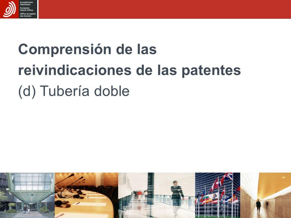 Comprensión de las reivindicaciones de las patentes (d) Tubería doble
