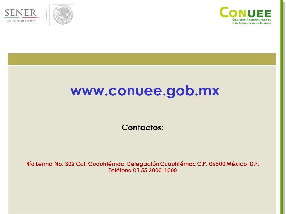 25 Contactos: Río Lerma No. 302 Col. Cuauhtémoc, Delegación Cuauhtémoc C.P.