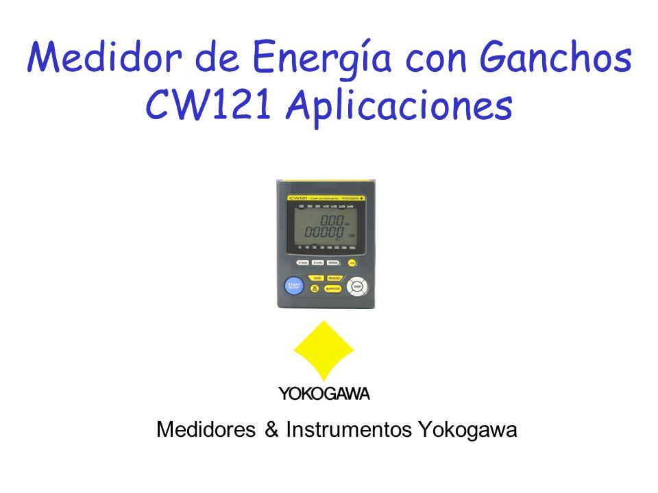 Medidor de Energía con Ganchos CW121 Aplicaciones Medidores & Instrumentos Yokogawa