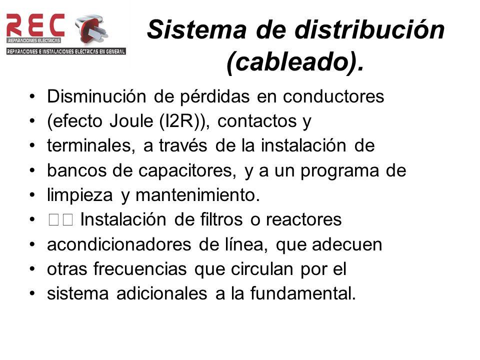 Sistema de distribución (cableado).