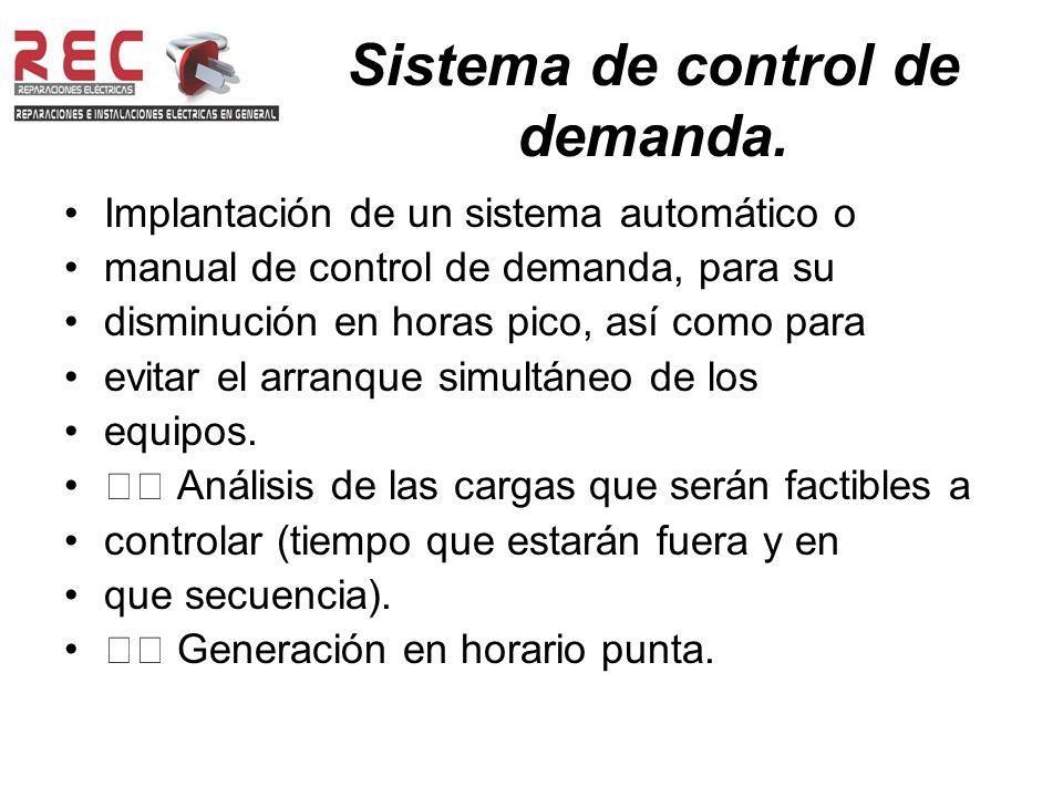 Sistema de control de demanda.