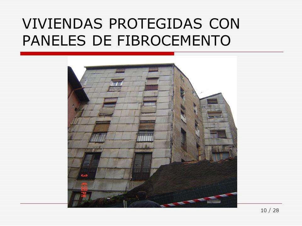 10 / 28 VIVIENDAS PROTEGIDAS CON PANELES DE FIBROCEMENTO
