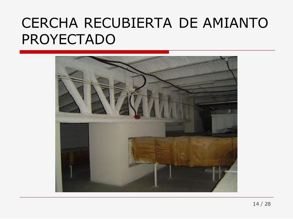 14 / 28 CERCHA RECUBIERTA DE AMIANTO PROYECTADO