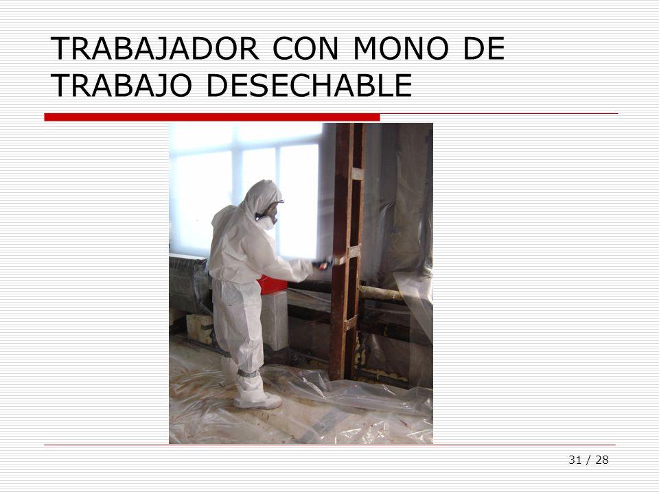 31 / 28 TRABAJADOR CON MONO DE TRABAJO DESECHABLE