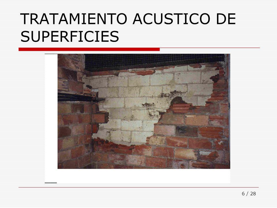 6 / 28 TRATAMIENTO ACUSTICO DE SUPERFICIES