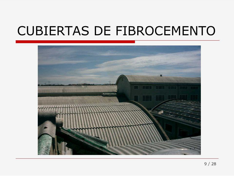 9 / 28 CUBIERTAS DE FIBROCEMENTO