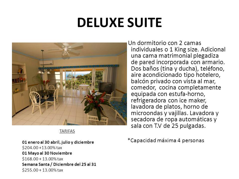 DELUXE SUITE Un dormitorio con 2 camas individuales o 1 King size.