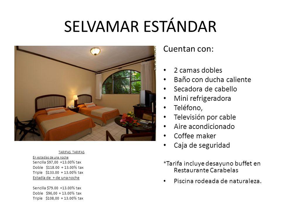 SENIOR SUITE Dos dormitorios: cada uno con 2 camas individuales o 1 King size.
