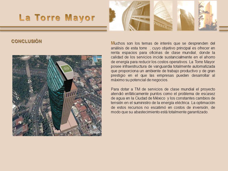 M uchos son los temas de interés que se desprenden del análisis de esta torre, cuyo objetivo principal es ofrecer en renta espacios para oficinas de c