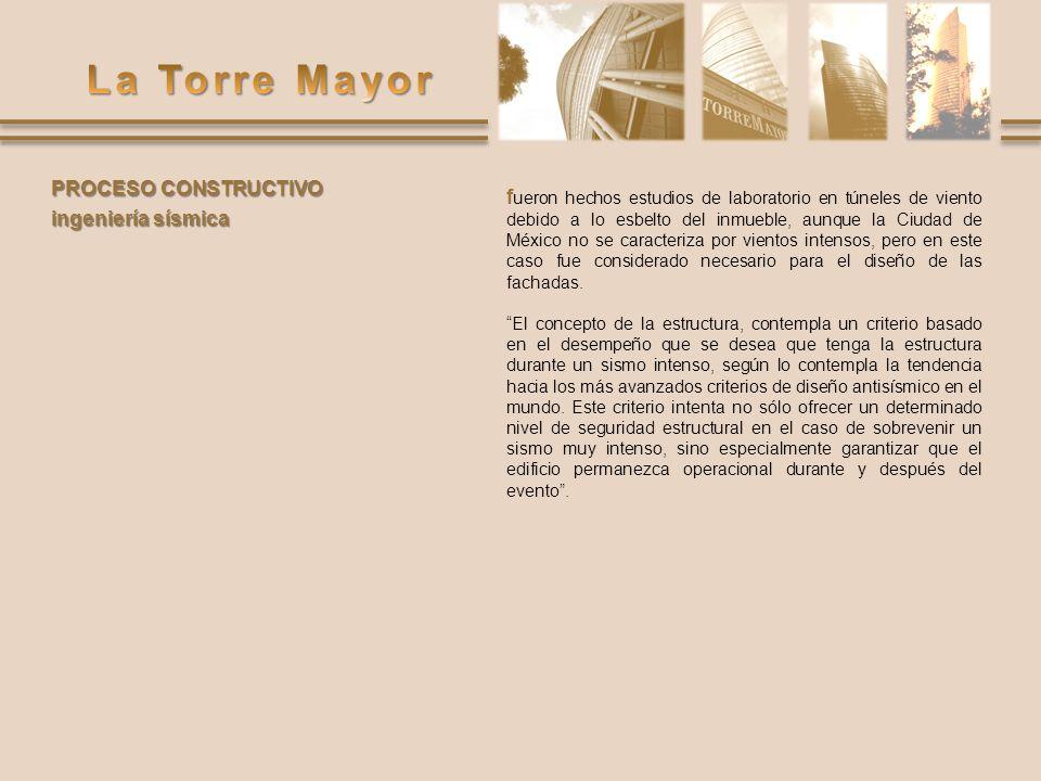 f ueron hechos estudios de laboratorio en túneles de viento debido a lo esbelto del inmueble, aunque la Ciudad de México no se caracteriza por vientos