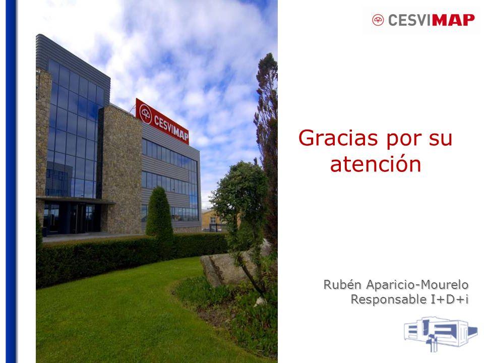 Gracias por su atención Rubén Aparicio-Mourelo Responsable I+D+i