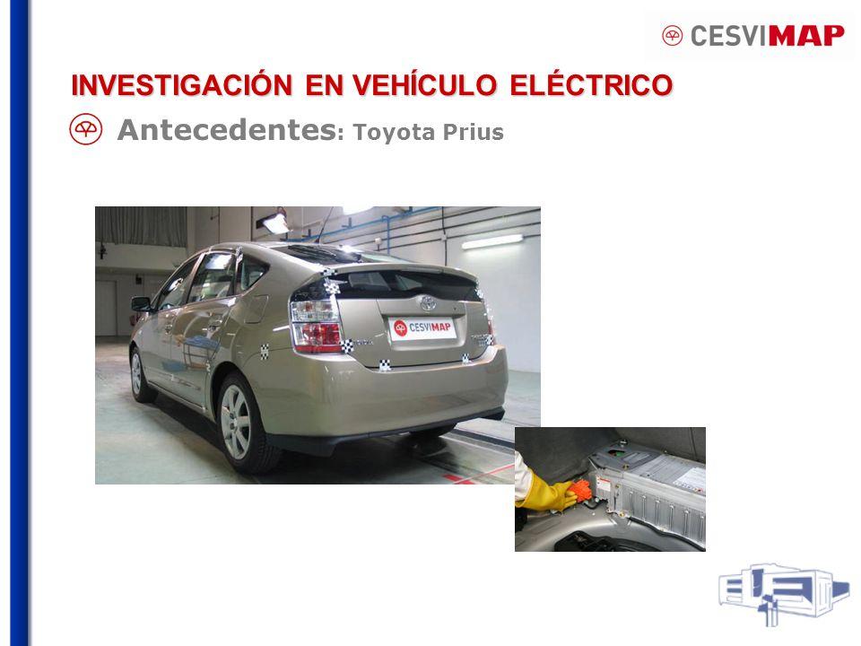 Antecedentes : Toyota Prius INVESTIGACIÓN EN VEHÍCULO ELÉCTRICO