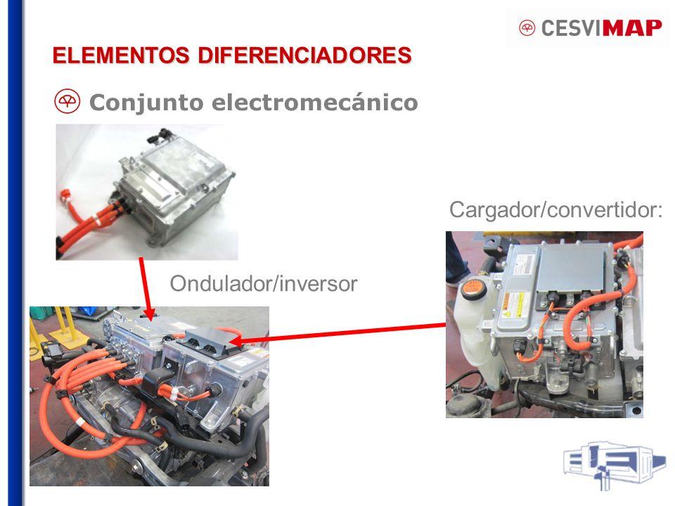 ELEMENTOS DIFERENCIADORES Cargador/convertidor: Conjunto electromecánico Ondulador/inversor