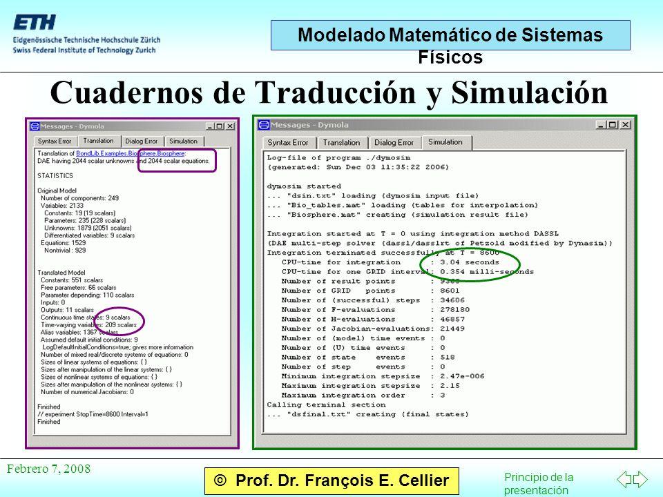 Principio de la presentación © Prof.Dr. François E.