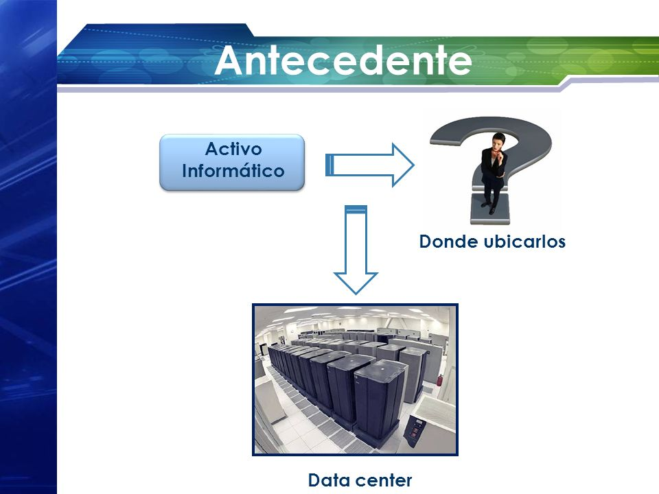 Antecedente Activo Informático Donde ubicarlos Data center