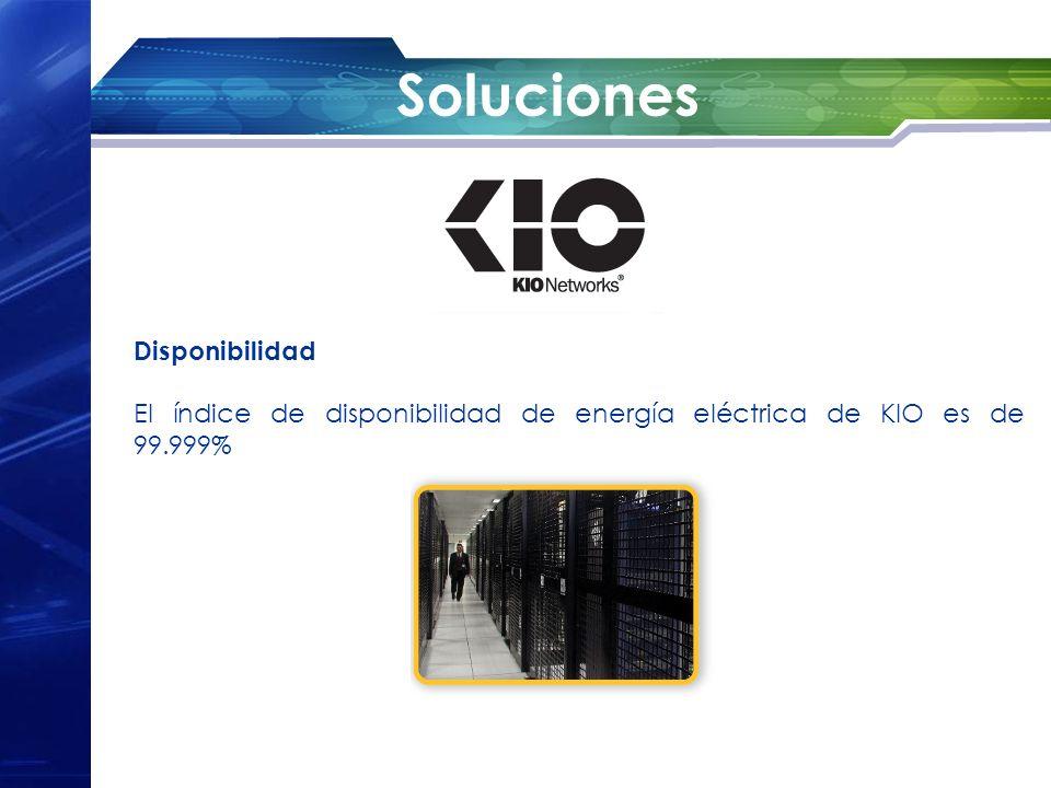 Soluciones Disponibilidad El índice de disponibilidad de energía eléctrica de KIO es de 99.999%