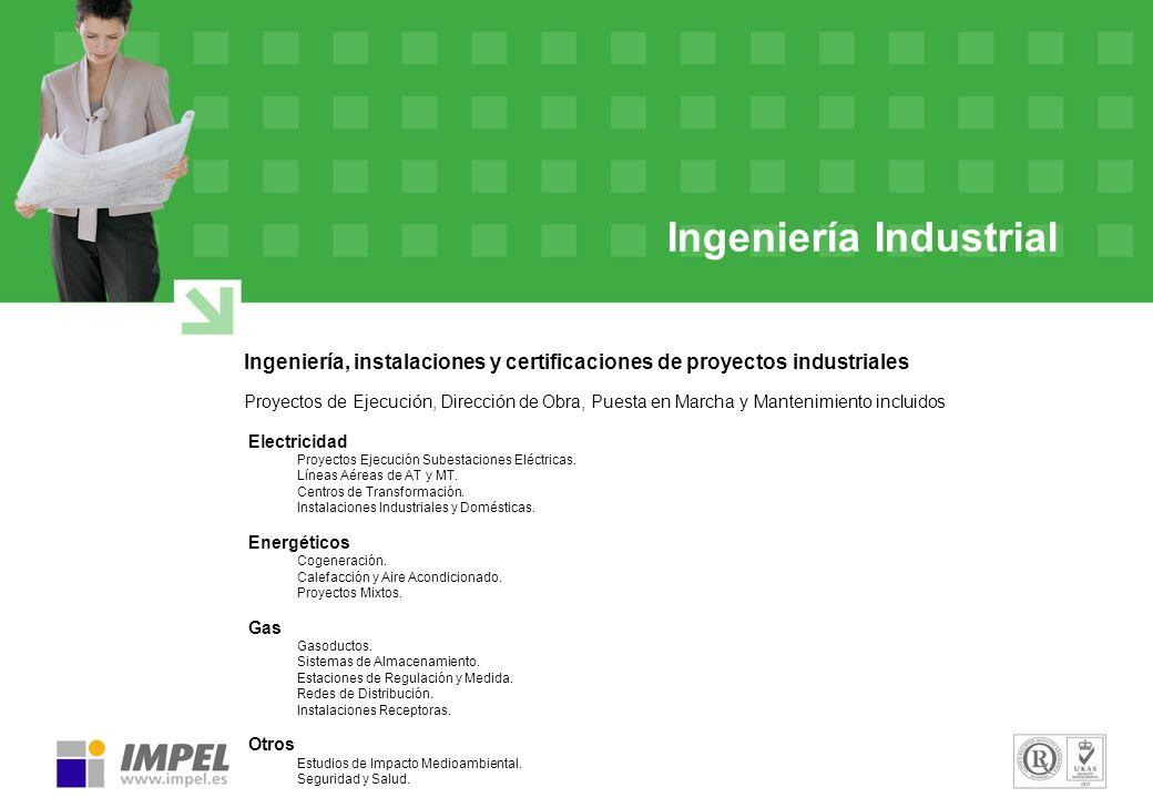 Ingeniería Industrial Ingeniería, instalaciones y certificaciones de proyectos industriales Proyectos de Ejecución, Dirección de Obra, Puesta en March