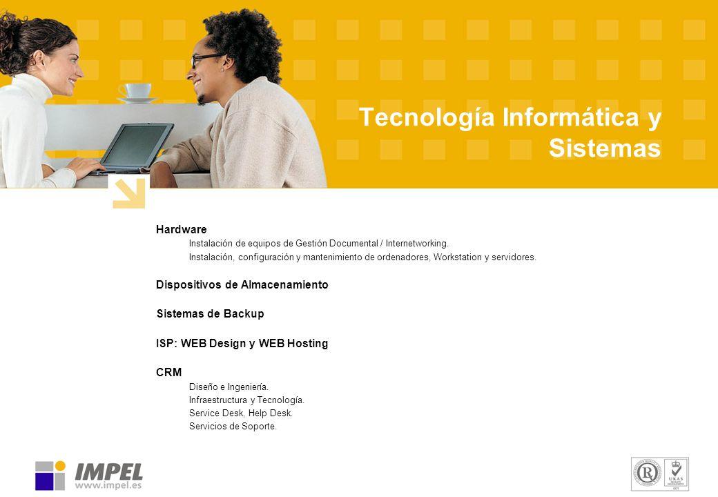 Tecnología Informática y Sistemas Hardware Instalación de equipos de Gestión Documental / Internetworking. Instalación, configuración y mantenimiento