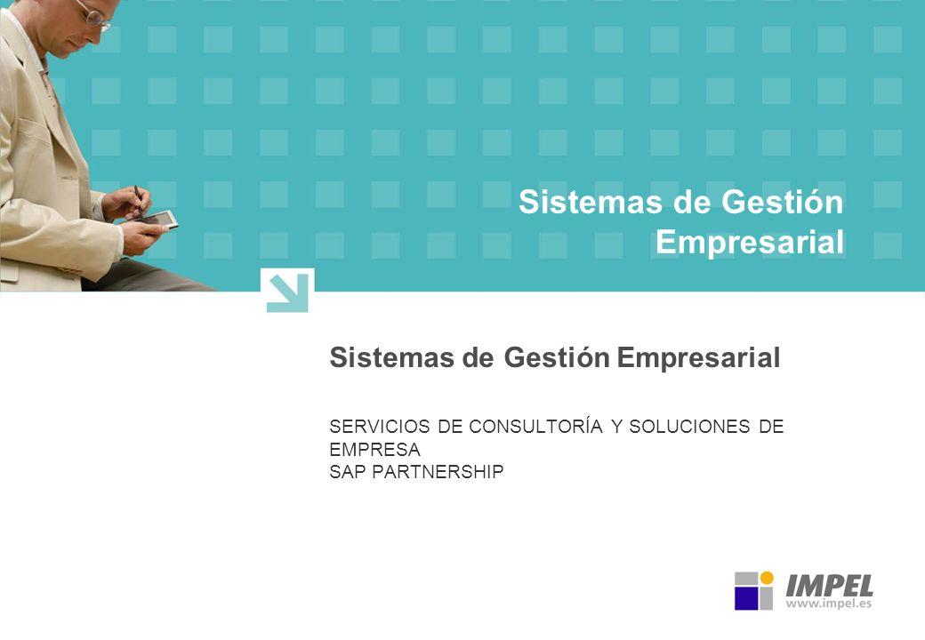 Sistemas de Gestión Empresarial SERVICIOS DE CONSULTORÍA Y SOLUCIONES DE EMPRESA SAP PARTNERSHIP