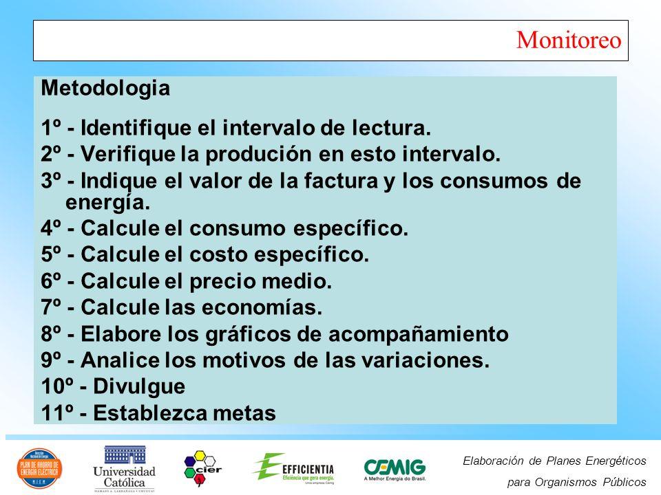 Elaboración de Planes Energéticos para Organismos Públicos Monitoreo Metodologia 1º - Identifique el intervalo de lectura.