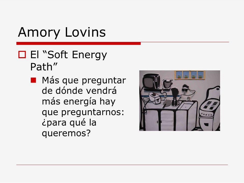 Dos paradigmas sobre la energía (1) La energía no es un fin en sí mismo: sirve para satisfacer un uso final Una tasa de té, no un BTU Lo que importa es el servicio energético: iluminación, refrigeración, ventilación...