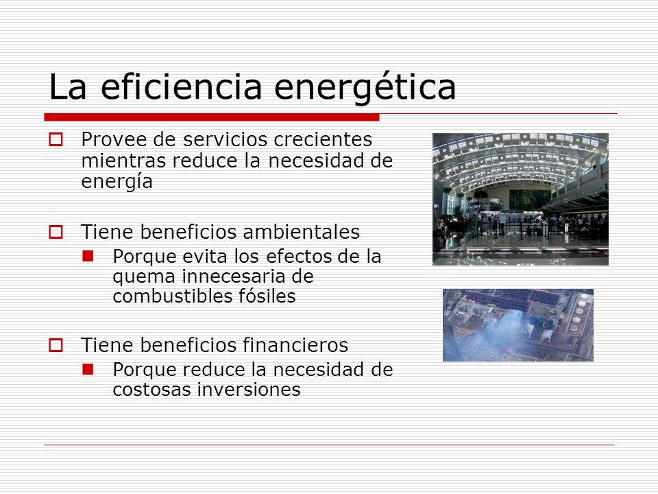 Hay varias formas de ahorrar de energía Mejorando las formas de operación Mantener equipos en condiciones óptimas Usar sólo cuando es necesario Usar sólo lo necesario Instalando materiales, equipos y/o sistemas que reduzcan el consumo Requiere de inversiones Que se deben analizar con información sobre la operación actual