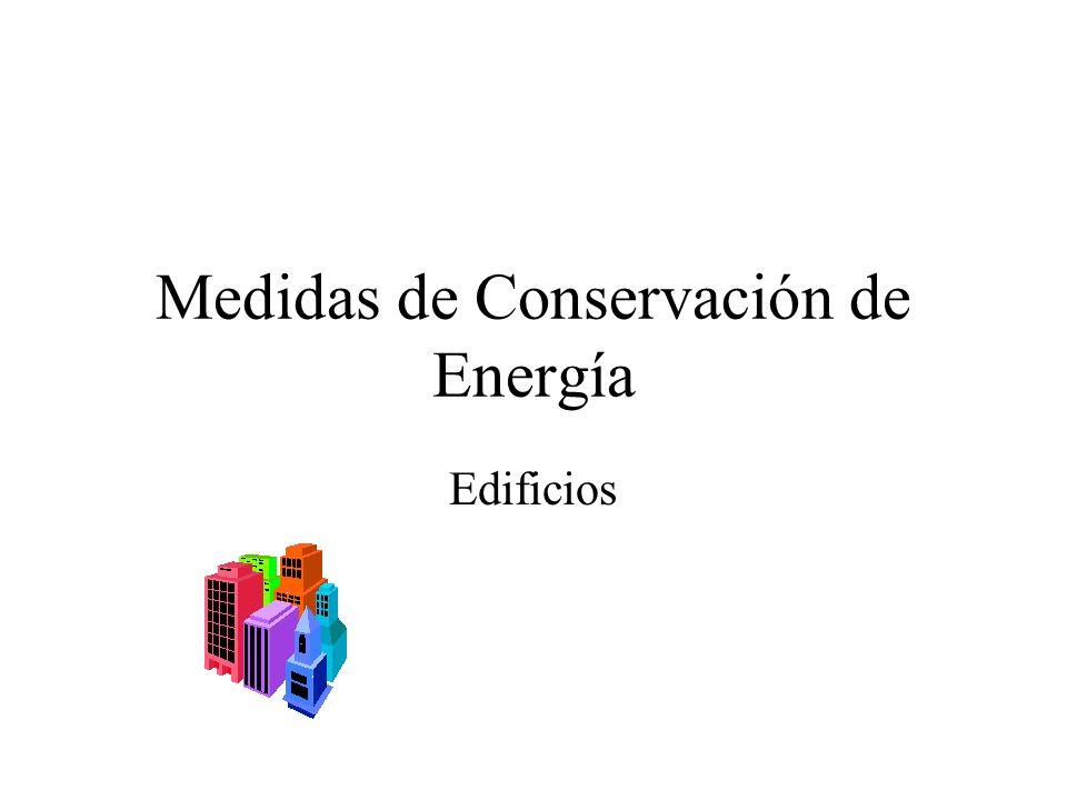 Medidas de Conservación de Energía Edificios