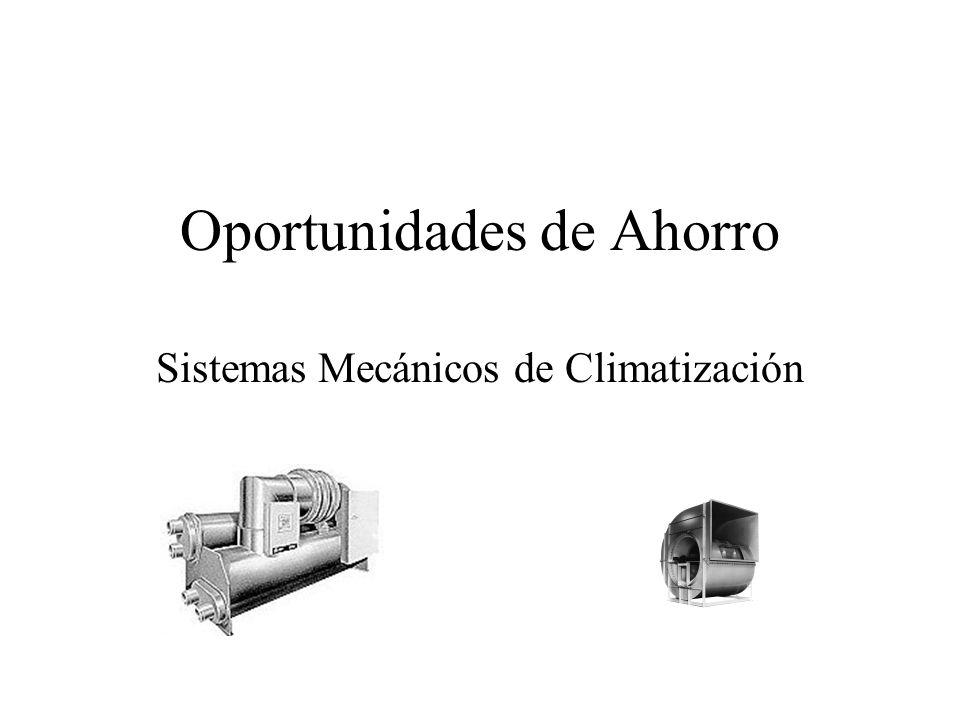 Oportunidades de Ahorro Sistemas Mecánicos de Climatización