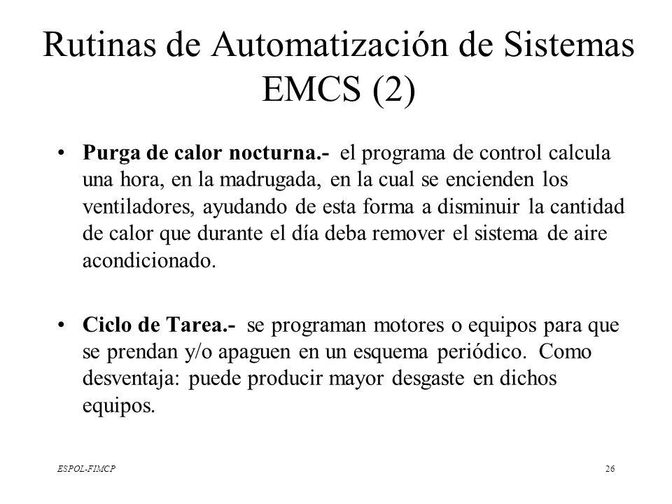 ESPOL-FIMCP26 Purga de calor nocturna.- el programa de control calcula una hora, en la madrugada, en la cual se encienden los ventiladores, ayudando d