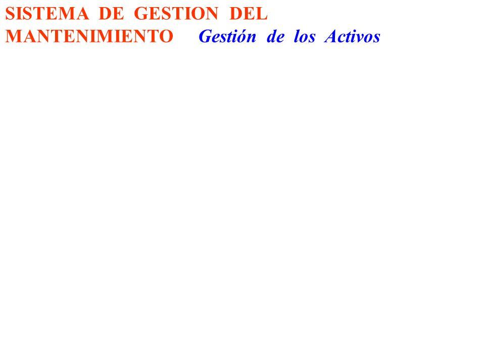 SISTEMA DE GESTION DEL MANTENIMIENTO Gestión de los Activos