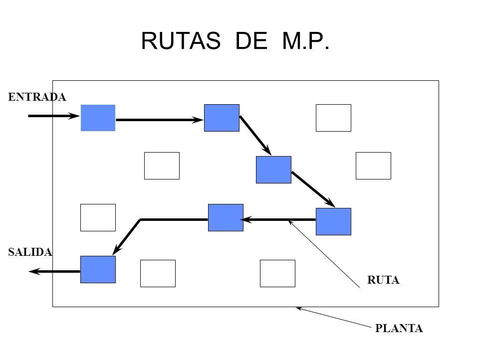 RUTAS DE M.P. RUTA PLANTA ENTRADA SALIDA