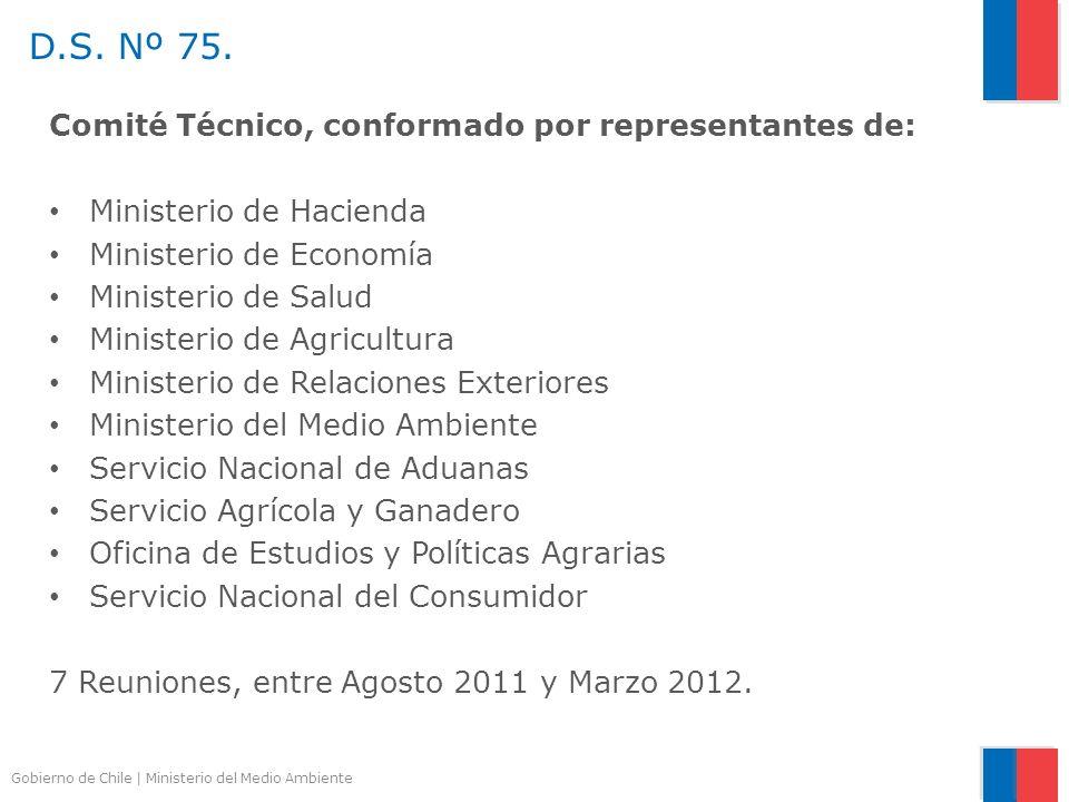 Gobierno de Chile | Ministerio del Medio Ambiente Comité Técnico, conformado por representantes de: Ministerio de Hacienda Ministerio de Economía Mini