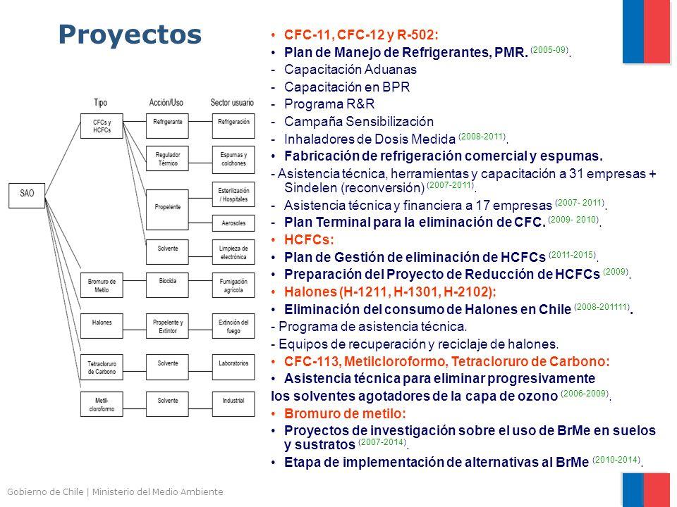Gobierno de Chile | Ministerio del Medio Ambiente Proyectos CFC-11, CFC-12 y R-502: Plan de Manejo de Refrigerantes, PMR. (2005-09). -Capacitación Adu