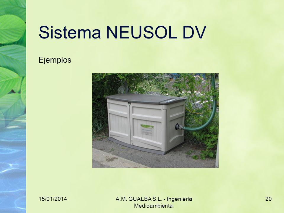 15/01/2014A.M. GUALBA S.L. - Ingeniería Medioambiental 20 Sistema NEUSOL DV Ejemplos