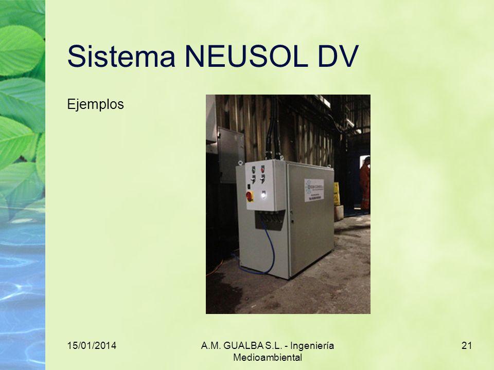 15/01/2014A.M. GUALBA S.L. - Ingeniería Medioambiental 21 Sistema NEUSOL DV Ejemplos