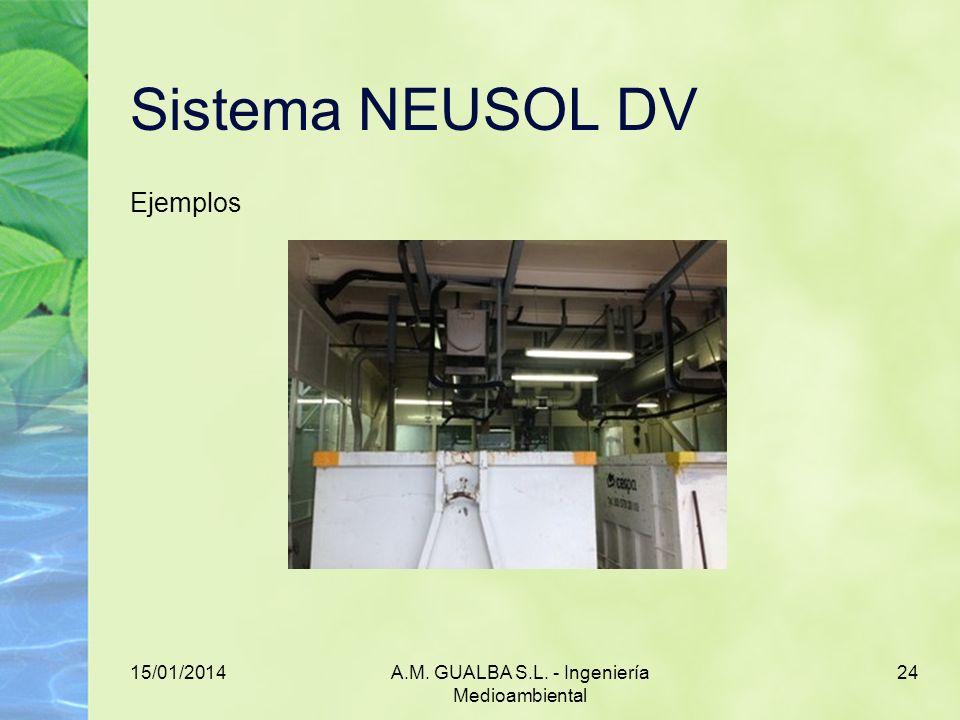 15/01/2014A.M. GUALBA S.L. - Ingeniería Medioambiental 24 Sistema NEUSOL DV Ejemplos