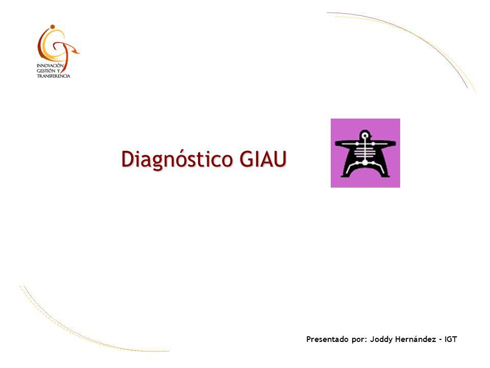 Diagnóstico GIAU Presentado por: Joddy Hernández - IGT