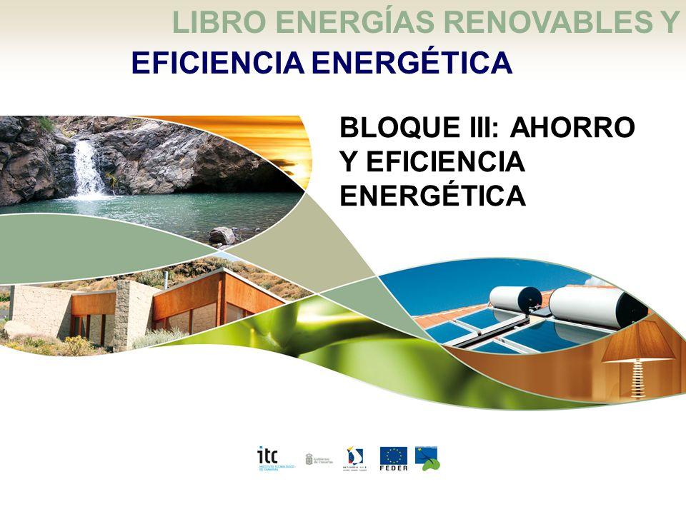 Energías renovables y eficiencia energética: 6 El Ahorro y La Eficiencia Energética LIBRO ENERGÍAS RENOVABLES Y EFICIENCIA ENERGÉTICA BLOQUE III: AHOR