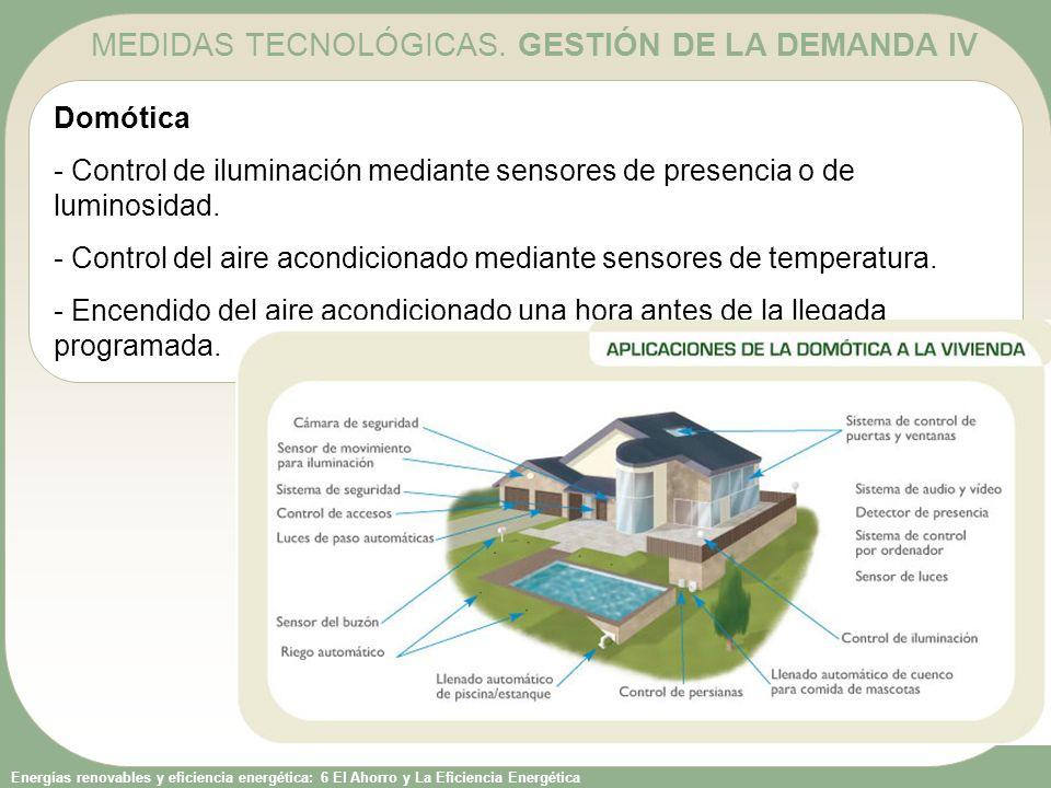 Energías renovables y eficiencia energética: 6 El Ahorro y La Eficiencia Energética Domótica - Control de iluminación mediante sensores de presencia o
