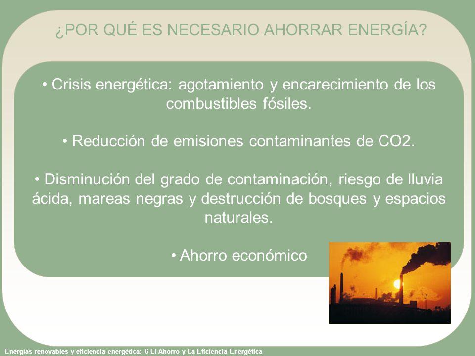 Energías renovables y eficiencia energética: 6 El Ahorro y La Eficiencia Energética Crisis energética: agotamiento y encarecimiento de los combustible