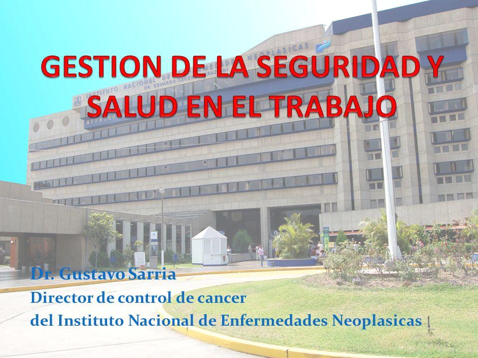 Dr. Gustavo Sarria Director de control de cancer del Instituto Nacional de Enfermedades Neoplasicas