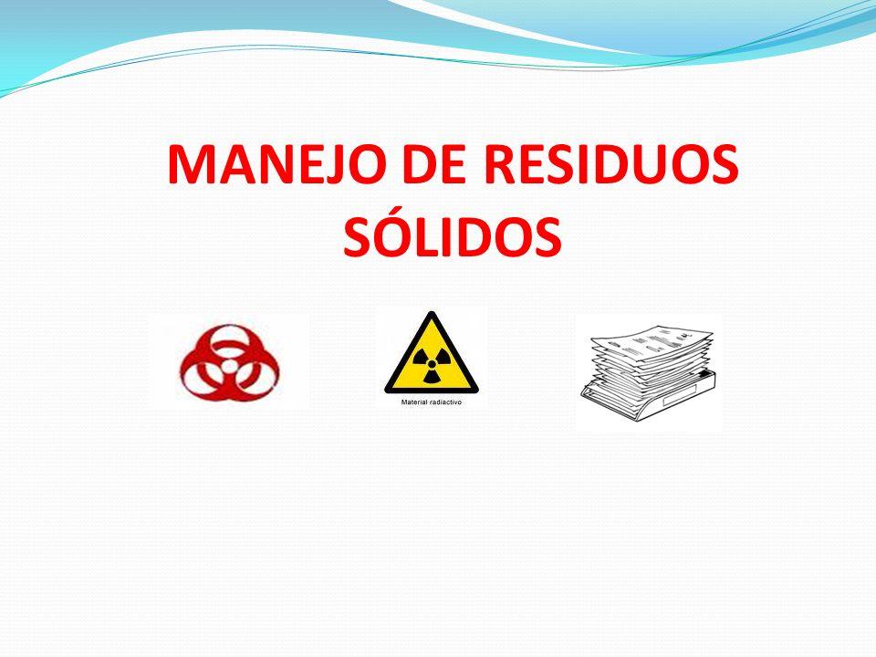 MANEJO DE RESIDUOS SÓLIDOS
