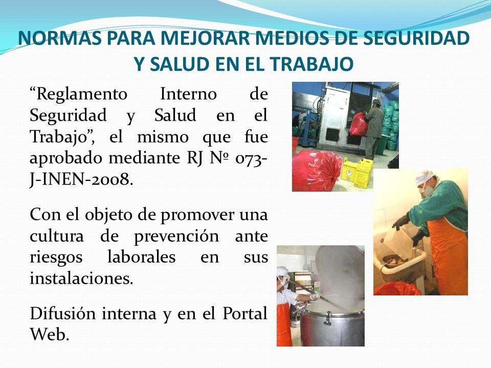CAMPAÑAS EDUCATIVAS INTERNAS Lavado de manos Prevención del dengue Tríptico para el personal Adhesivo colocado en servicios higiénicos