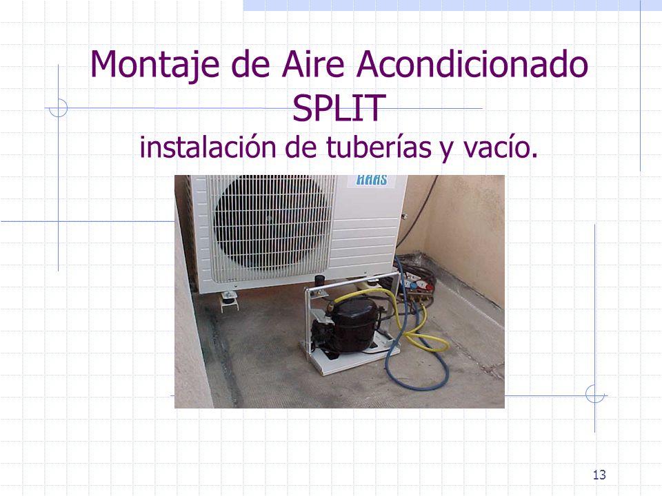 13 Montaje de Aire Acondicionado SPLIT instalación de tuberías y vacío.