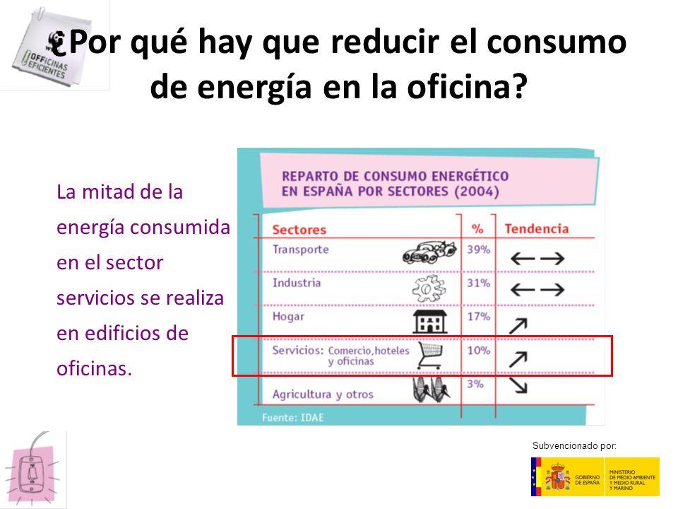 ¿Por qué hay que reducir el consumo de energía en la oficina? La mitad de la energía consumida en el sector servicios se realiza en edificios de ofici